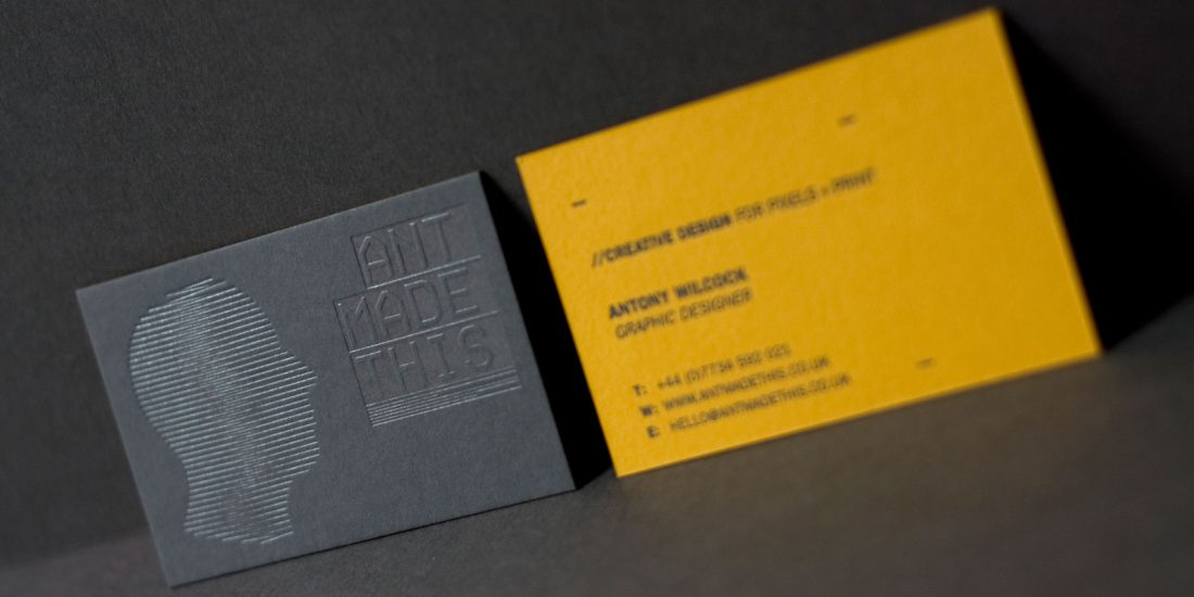 ant made this business cards