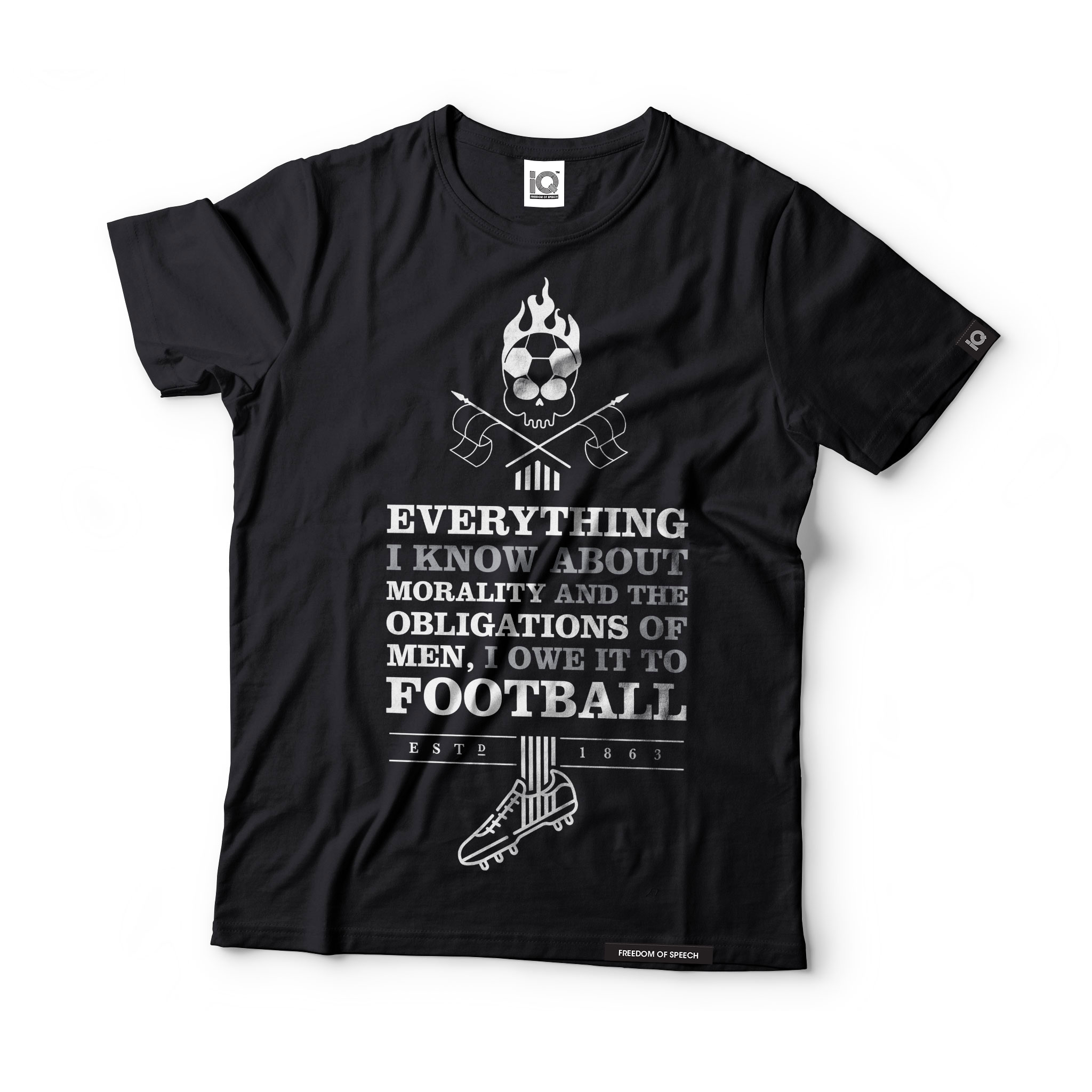 everything-I-know-about-morality-and-the-obligations-of-men-I-owe-it-to-football-black-tshirt