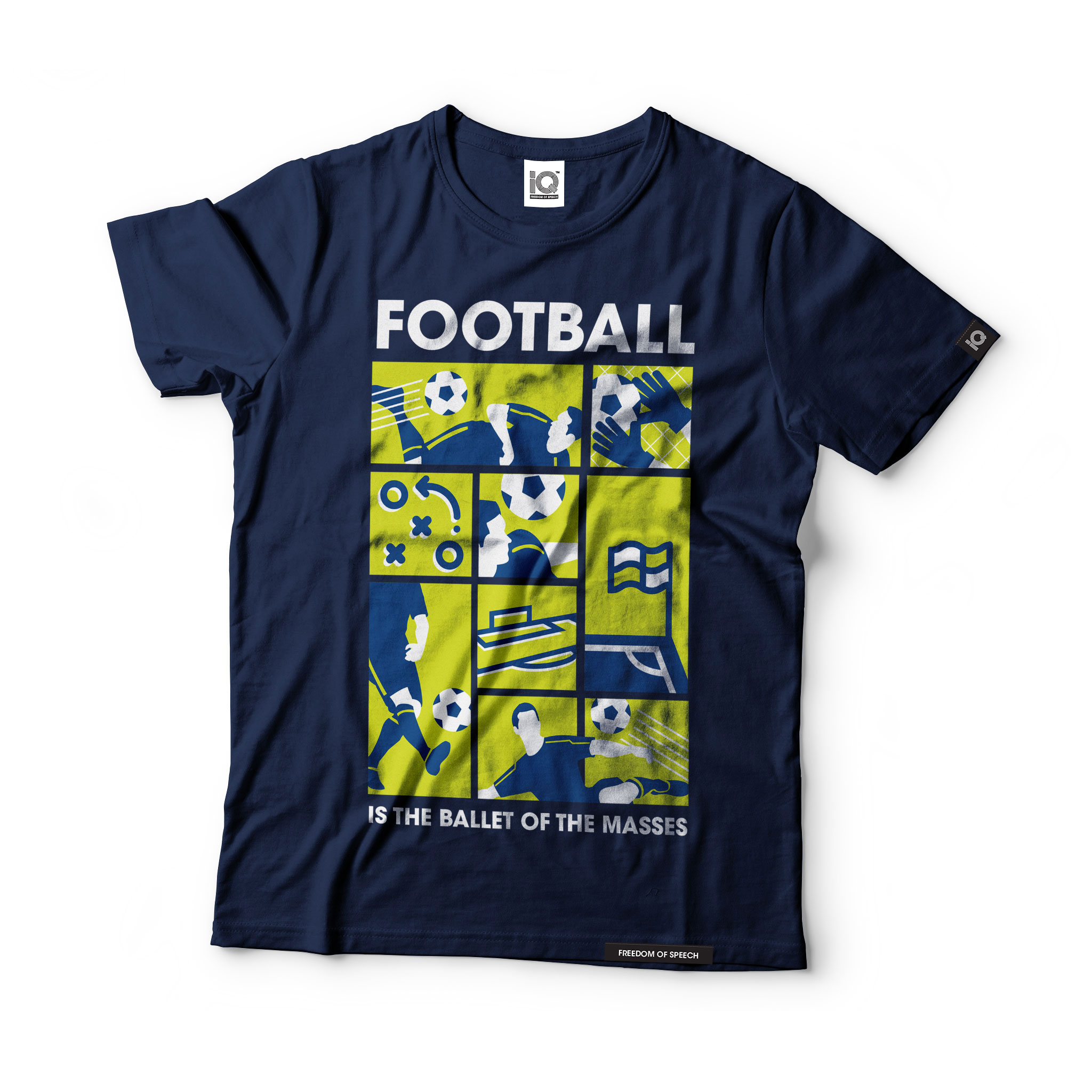 football-is-the-ballet-of-the-masses-navy-tshirt